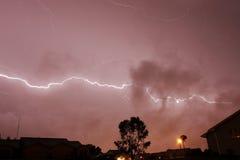Lightning Bolt Farm thunderstorm. Lightning weather bolt thunderstorm flash rain Royalty Free Stock Photos