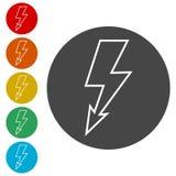 Lightning bolt icon. Simple  icons set Royalty Free Stock Image