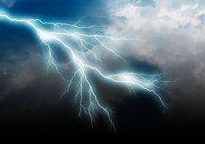 Lightning bolt. Isolated on black background, clipping path included Stock Images