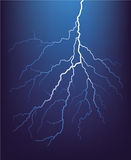 Lightning bolt at night. Vector. Stock Images