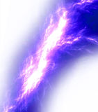 Lightning bolt over white Royalty Free Stock Photography