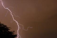 Lightning Bolt-1. Photo of lightning bolt taken at night Royalty Free Stock Image
