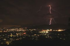Lightning bolt at phuket town Stock Photos