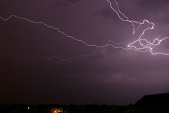 Lightning Bolt Sky Clouds. Landscape Stock Image