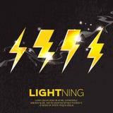 Lightning bolt sparkling Royalty Free Stock Photo