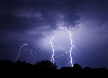 Lightning Bolt Strike Stock Image