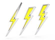 Lightning bolt symbol Royalty Free Stock Photos