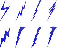 Lightning bolt symbols Stock Image