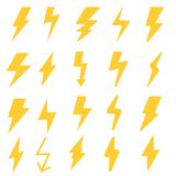 Lightning bolt vector icon set. lightning strike illustration icons. vector illustration