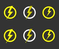 Lightning bolt vector. Vector icon storm, thunder illustration set vector illustration