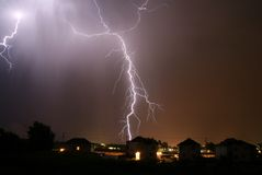 Lightning bolts Stock Image
