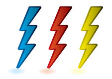Lightning bolts Royalty Free Stock Photos