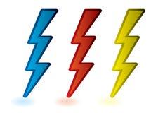 Lightning bolts Royalty Free Stock Photos