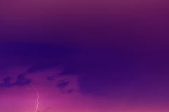 Lightning bolts against the backdrop of a thundercloud. Royalty Free Stock Photos
