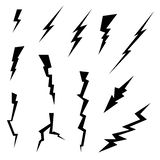 Lightning Bolts Icons Set Royalty Free Stock Photo