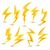 Lightning Bolts Set Stock Photography