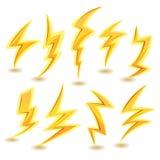 Lightning Bolts Set Stock Photography