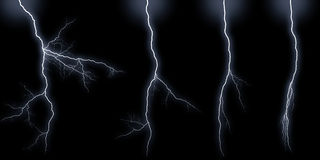 Lightning bolts types Royalty Free Stock Photography
