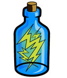 Lightning in a Bottle. A vector portraying the concept lightning in a bottle - capturing something elusive and powerful and being able to display it; usually Royalty Free Stock Image