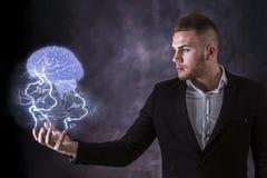 Lightning And Brain Stock Image