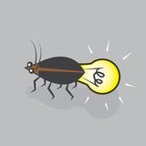 Lightning Bug Bulb Royalty Free Stock Images
