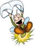 Lightning bug with crayon. Lightning bug - High detailed and coloured illustration - Happy flying bug Stock Photo