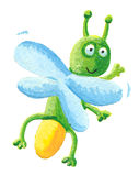 Lightning bug flying on the right Royalty Free Stock Image