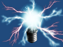 Lightning bulb Stock Image