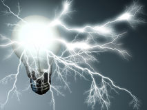 Lightning bulb Royalty Free Stock Photo