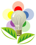 Lightning bulb as stylized flower Stock Photos