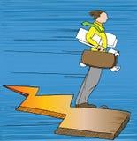 Lightning Business Man. Illustration of how the business world can often feel. Lightning fast Royalty Free Stock Image