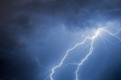 Lightning. Caught during night storm stock photos