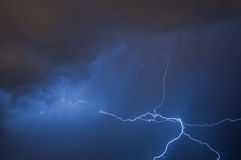 Lightning. Caught during night storm stock photography