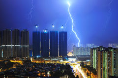 Lightning of city Royalty Free Stock Photos