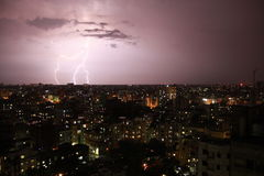 Lightning in a city Royalty Free Stock Photography