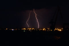Lightning in city Royalty Free Stock Images