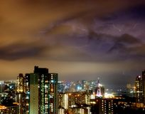 Lightning in City Stock Photo
