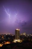 Lightning Cityscape Stock Images