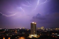 Lightning Cityscape Royalty Free Stock Image