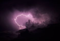 Lightning in Cloud Stock Photos