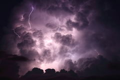 Lightning cloud background Stock Photos