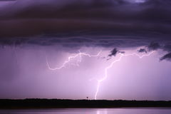 Lightning cloud Stock Image