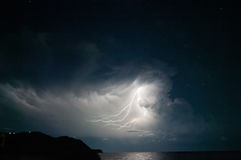 Lightning from the cloud. Stock Photography