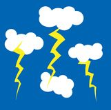 Lightning clouds Royalty Free Stock Photography