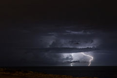 Lightning and Clouds Royalty Free Stock Photos