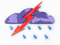 Lightning from the clouds Royalty Free Stock Image
