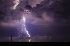 Lightning and clouds Stock Images