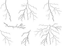Lightning collection Stock Image