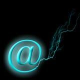 Lightning communications royalty free illustration