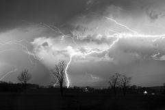 Lightning Composite Royalty Free Stock Images